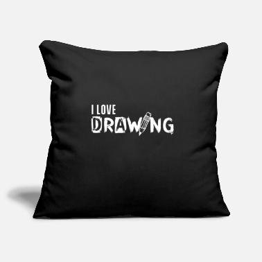 Drawing Drawing drawing drawing drawing - Pillowcase 17,3'' x 17,3'' (45 x 45 cm)