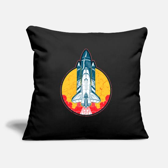 Gift Idea Pillow Cases - Space Shuttle Spacecraft Space Galaxy Space - Pillowcase 17,3'' x 17,3'' (45 x 45 cm) black