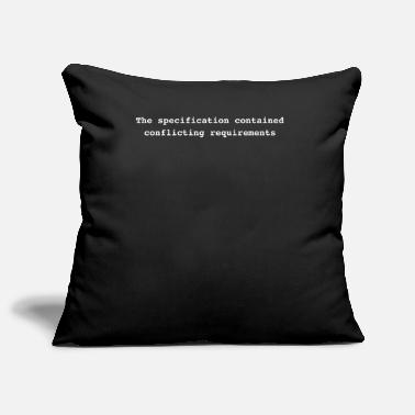 Conflict The specification contained conflicting requiremen - Pillowcase 17,3'' x 17,3'' (45 x 45 cm)
