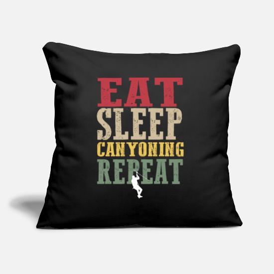 Hobby Cook Pillow Cases - Hipster canyoning tea - Pillowcase 17,3'' x 17,3'' (45 x 45 cm) black