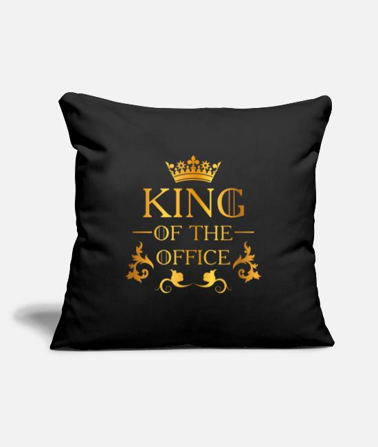 Office Pillow Cases - Office Job Office - Pillowcase 17,3'' x 17,3'' (45 x 45 cm) black