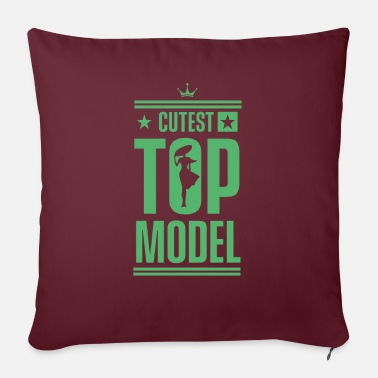 Model Modeling Modeling Modeling Modeling - Pillowcase 17,3'' x 17,3'' (45 x 45 cm)