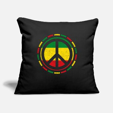 Rasta Distressed Rasta Peace design Gift for Reggae - Pillowcase 17,3'' x 17,3'' (45 x 45 cm)