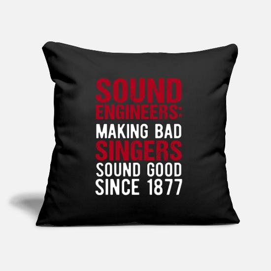Sound Pillow Cases - Audio Sound Engineer Acoustical Engineering Gift - Pillowcase 17,3'' x 17,3'' (45 x 45 cm) black