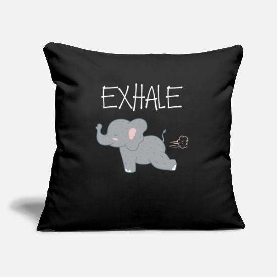Gift Idea Pillow Cases - Exhale and relax - Pillowcase 17,3'' x 17,3'' (45 x 45 cm) black