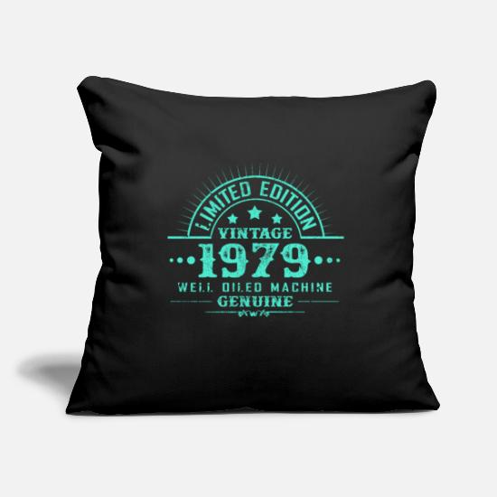 Years Pillow Cases - Year of birth 1979 - Pillowcase 17,3'' x 17,3'' (45 x 45 cm) black