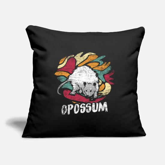 Gift Idea Pillow Cases - Possum marsupial - Pillowcase 17,3'' x 17,3'' (45 x 45 cm) black