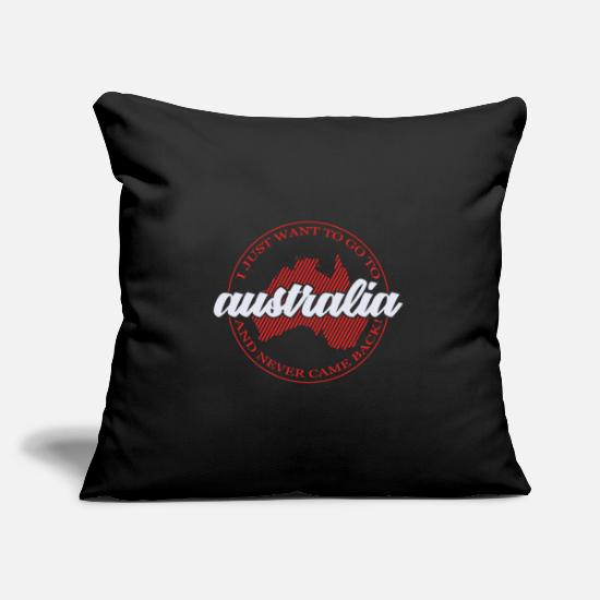 Continent Pillow Cases - Australia Sidney Canberra Outback Kangaroo - Pillowcase 17,3'' x 17,3'' (45 x 45 cm) black