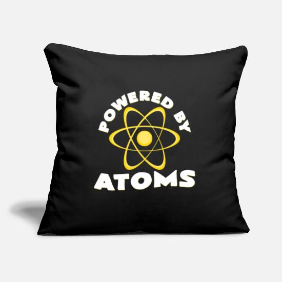 Geek Pillow Cases - atoms - Pillowcase 17,3'' x 17,3'' (45 x 45 cm) black