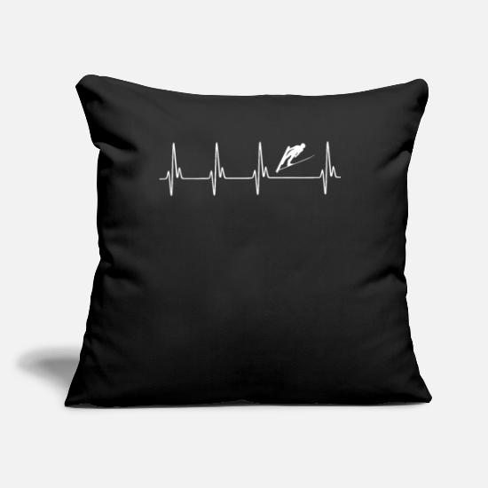 Ski Pillow Cases - Winter sports ECG - Pillowcase 17,3'' x 17,3'' (45 x 45 cm) black