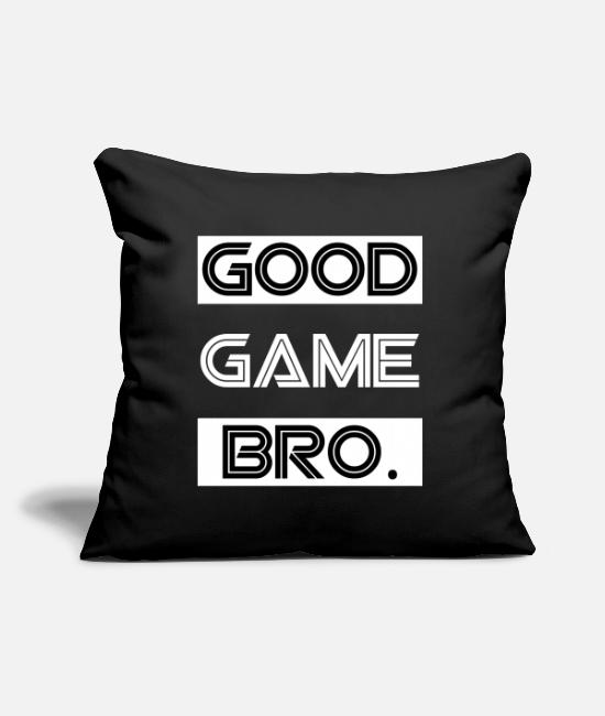 Friendship Pillow Cases - Good Game Bro GG - Pillowcase 17,3'' x 17,3'' (45 x 45 cm) black