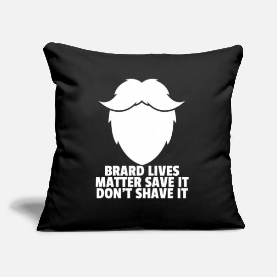 Beard Pillow Cases - Beard bearded bearded bearer hipster beard gift - Pillowcase 17,3'' x 17,3'' (45 x 45 cm) black