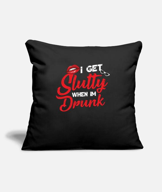 Lips Pillow Cases - I'm messed up when I'm drunk - Pillowcase 17,3'' x 17,3'' (45 x 45 cm) black
