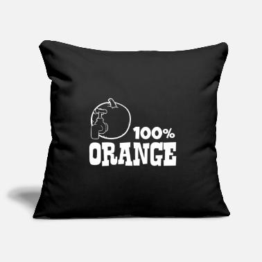 Orange Orange - 100% orange - Pillowcase 17,3'' x 17,3'' (45 x 45 cm)