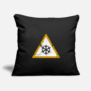 Alarm Snow symbol gift for everyone - Pillowcase 17,3'' x 17,3'' (45 x 45 cm)