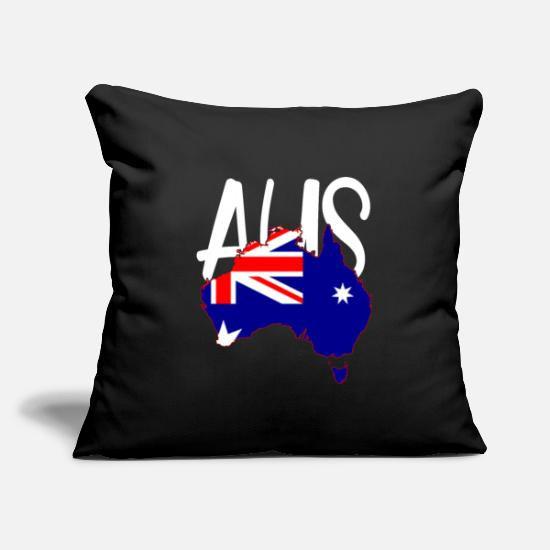 Sidney Pillow Cases - Australien Sidney Canberra Outback Geschenk - Pillowcase 17,3'' x 17,3'' (45 x 45 cm) black