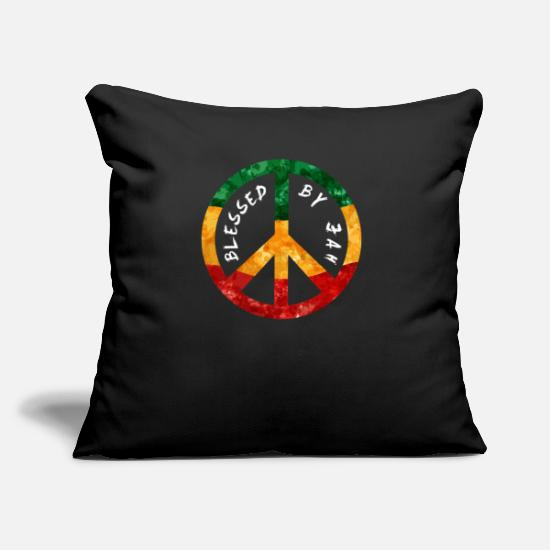 Rasta Pillow Cases - Rastafari Peace Sign Gift Blessed by Jah Rasta - Pillowcase 17,3'' x 17,3'' (45 x 45 cm) black