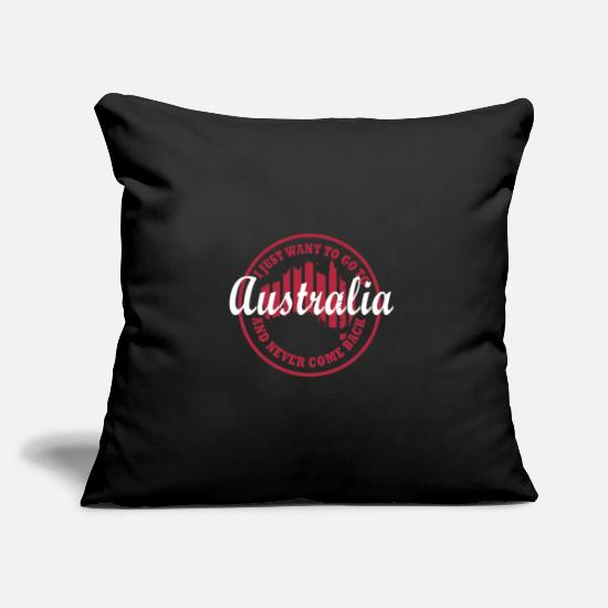 Sidney Pillow Cases - Australia Sidney Canberra Outback Gift - Pillowcase 17,3'' x 17,3'' (45 x 45 cm) black