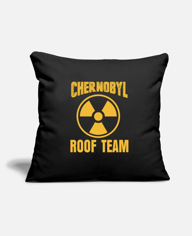 Pollution Pillow Cases - Chernobyl Radioactive - Pillowcase 17,3'' x 17,3'' (45 x 45 cm) black