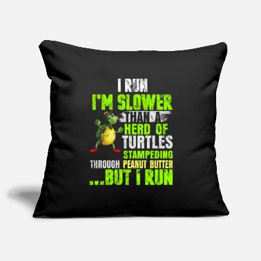 Läuger Running turtle jogging race saying gift - Pillowcase 17,3'' x 17,3'' (45 x 45 cm)
