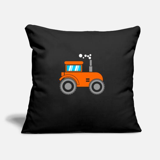 Tractor Pillow Cases - Kids Tractor Trecker Kids - Pillowcase 17,3'' x 17,3'' (45 x 45 cm) black