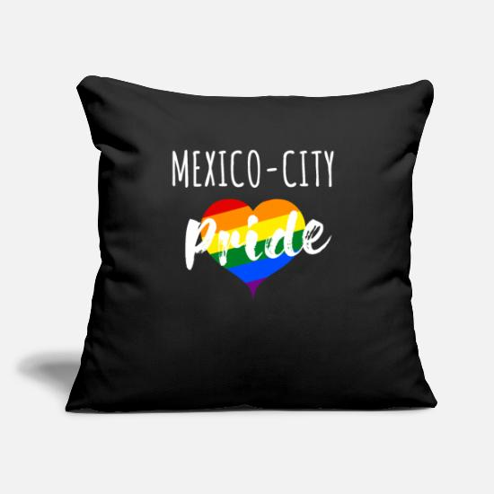 Gift Kussenslopen - Mexico City Mexico City Gift LGBT Pride - Kussenhoes zwart