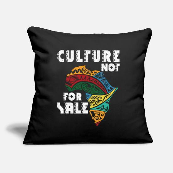 Black Pillow Cases - culture not for sale Black History - Pillowcase 17,3'' x 17,3'' (45 x 45 cm) black