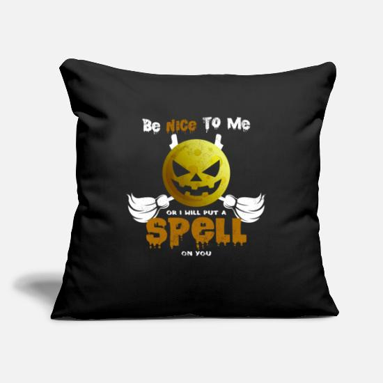 Witches Broom Pillow Cases - Cool witches broom Halloween pumpkin Funny sayings - Pillowcase 17,3'' x 17,3'' (45 x 45 cm) black
