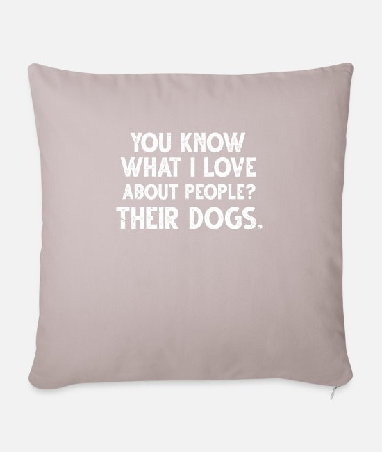 Doggie Pillow Cases - dog school - Pillowcase 17,3'' x 17,3'' (45 x 45 cm) light taupe