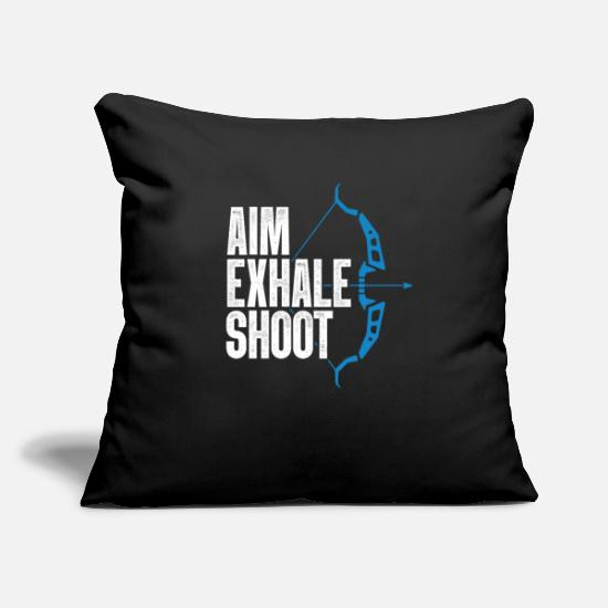 Gift Idea Pillow Cases - Arrow Bow Bowhunter - Pillowcase 17,3'' x 17,3'' (45 x 45 cm) black