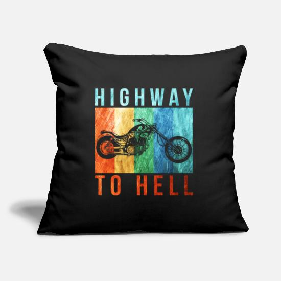 Gift Idea Pillow Cases - highway to hell - Pillowcase 17,3'' x 17,3'' (45 x 45 cm) black