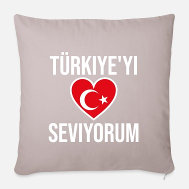 I love Turkey Türkiye'yi seviyorum love Turkey - Pillowcase 17,3'' x 17,3'' (45 x 45 cm)