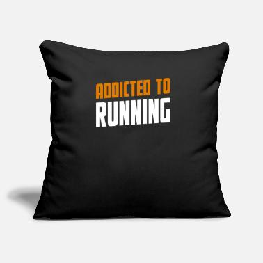 Bleu Addicted to Running Lopning Gift - Housse de coussin