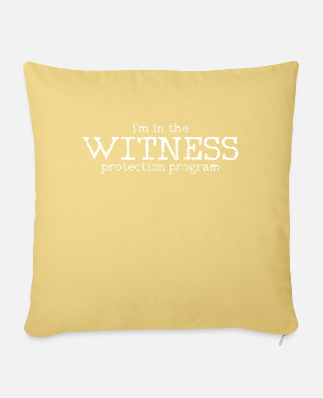 Program (what You Do) Pillow Cases - witness protection - Pillowcase 17,3'' x 17,3'' (45 x 45 cm) washed yellow