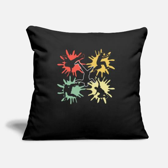 Gift Idea Pillow Cases - Breakdance dance sport - Pillowcase 17,3'' x 17,3'' (45 x 45 cm) black
