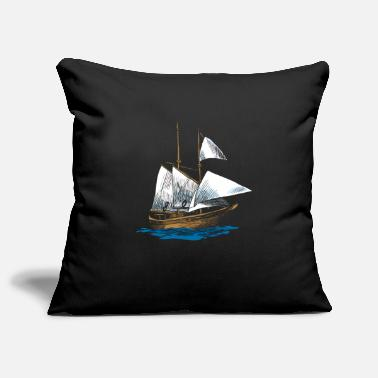 Yourself Schooner boat art design gift ideas - Pillowcase 17,3'' x 17,3'' (45 x 45 cm)