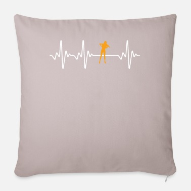 Violing Design Gamba yellow shirt design - Pillowcase 17,3'' x 17,3'' (45 x 45 cm)