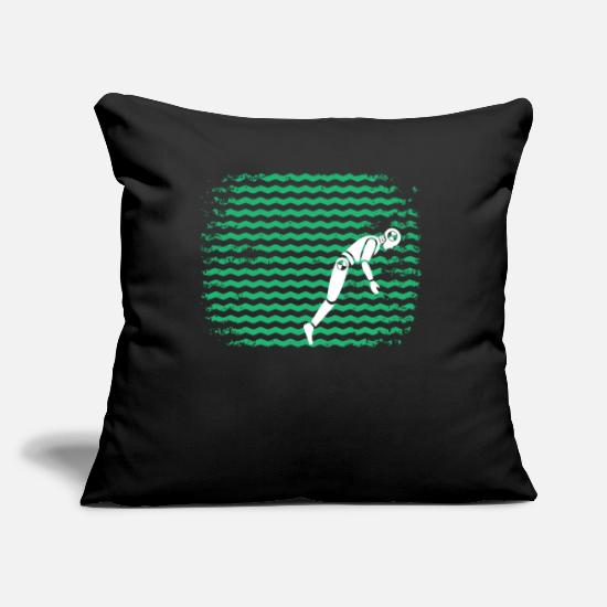 Wheel Pillow Cases - Test Driver Tee Shirt Retro Style - Pillowcase 17,3'' x 17,3'' (45 x 45 cm) black