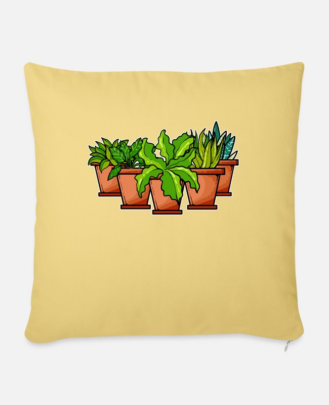 Garden Pillow Cases - plants - Pillowcase 17,3'' x 17,3'' (45 x 45 cm) washed yellow