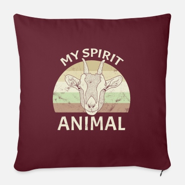 Spirit Goat Spirit Animal - Pillowcase 17,3'' x 17,3'' (45 x 45 cm)