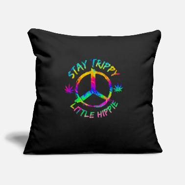 Flower Power Peace harmony hippie - Pillowcase 17,3'' x 17,3'' (45 x 45 cm)