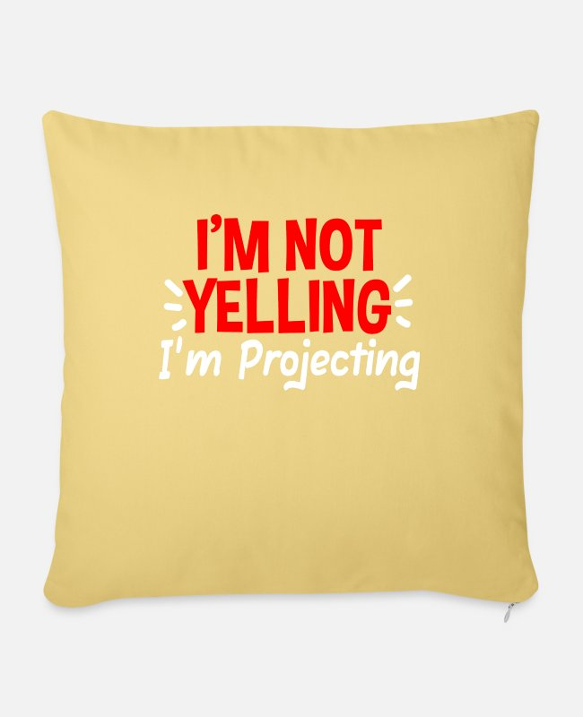 Drama Pillow Cases - Actor theater actress - Pillowcase 17,3'' x 17,3'' (45 x 45 cm) washed yellow
