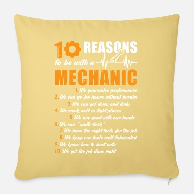 Mechanic Mechanic 10 Reasons To Be With A Mechanic - Pillowcase 17,3'' x 17,3'' (45 x 45 cm)