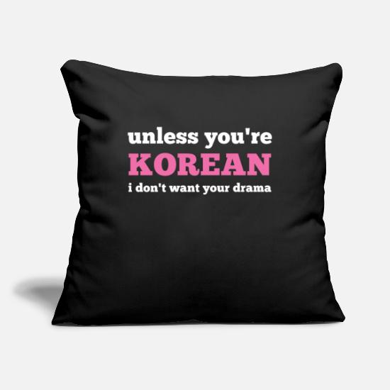 Drama Pillow Cases - K-Pop Korean pop music - Pillowcase 17,3'' x 17,3'' (45 x 45 cm) black