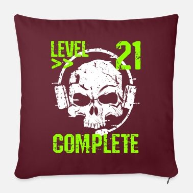 Clan Level 21 Complete 21st Birthday PC Freaks Gamer - Pillowcase 17,3'' x 17,3'' (45 x 45 cm)