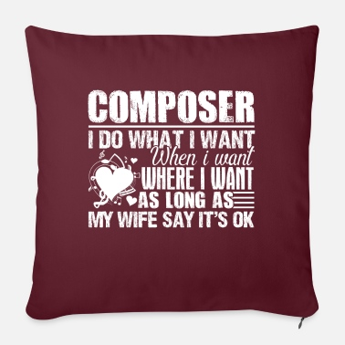 Funny Composer I Do What I Want - Pillowcase 17,3'' x 17,3'' (45 x 45 cm)