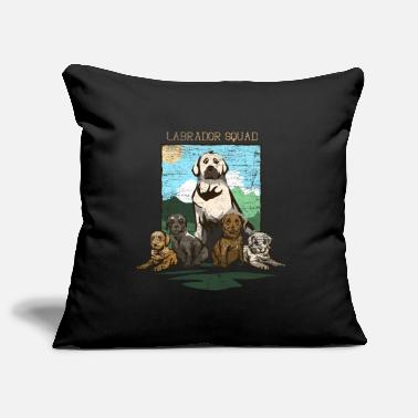 Dog Labrador Retriever family - Pillowcase 17,3'' x 17,3'' (45 x 45 cm)