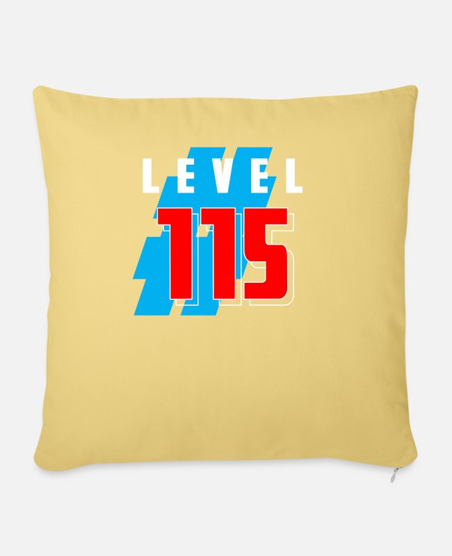 Number Pillow Cases - LEVEL 115 - Pillowcase 17,3'' x 17,3'' (45 x 45 cm) washed yellow