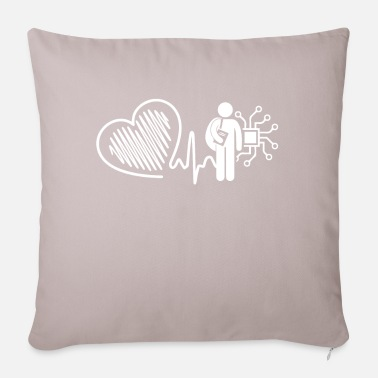 Electrical Engineering Electrical Engineer Electrical Engineer Heartbeat - Pillowcase 17,3'' x 17,3'' (45 x 45 cm)