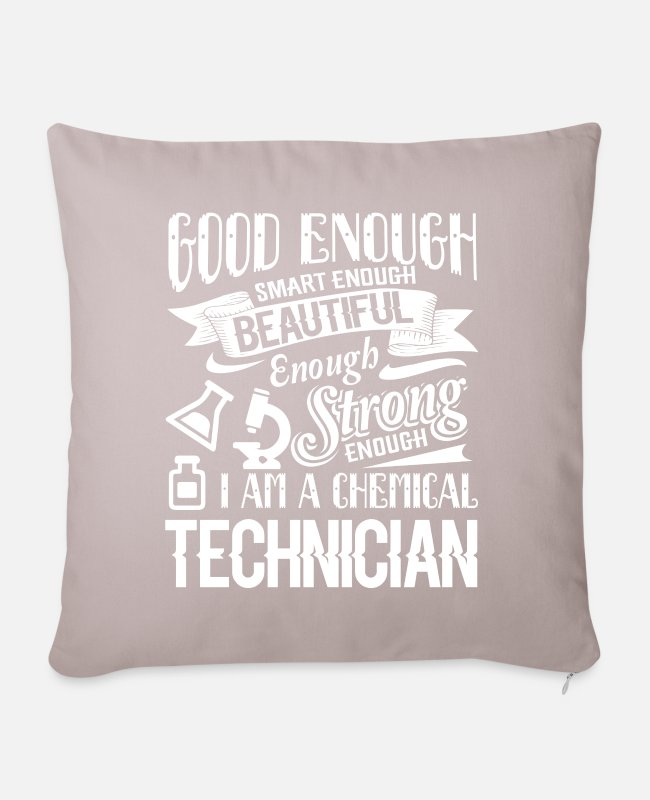 Chemical Pillow Cases - Chemical Technician Strong Chemical Technician - Pillowcase 17,3'' x 17,3'' (45 x 45 cm) light taupe